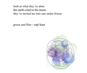 earth, poem, and rupi kaur image