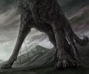 chains, wolf, and odin image
