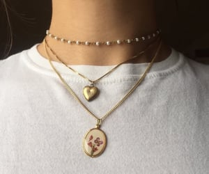necklace, gold, and tumblr image