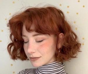 ginger, hair, and haircut image
