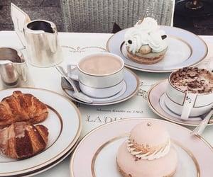 food, laduree, and coffee image