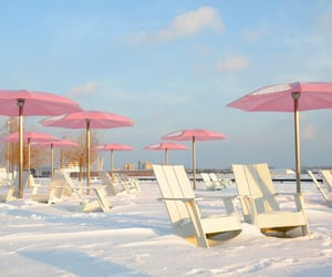 pink, beach, and snow image