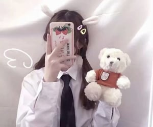 aesthetic, asian girls, and bunny image