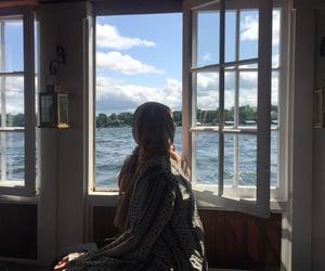 boat, hijab, and nature image
