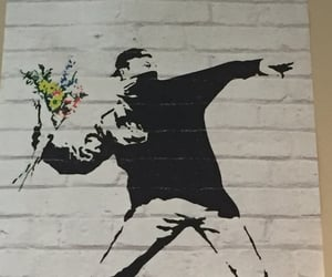 art, graffiti, and BANKSY image