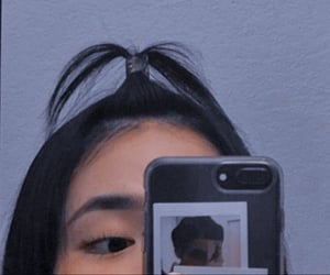 girl, ulzzang, and mirror selfie image
