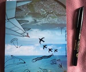 bird, creative, and pen image