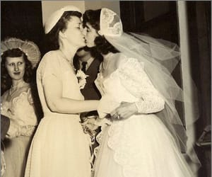 black and white, brides, and vintage image