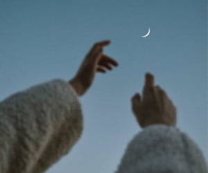 moon, sky, and tumblr image