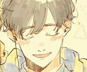 anime, smile, and yellow image