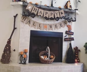 decoration, fall, and fire place image