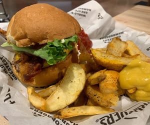 burger, food, and wedges image