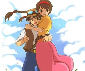 anime, Castle in the Sky, and couple image