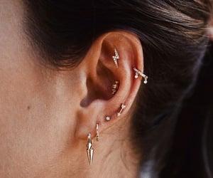 girl, helix, and piercing image