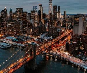city, lights, and manhattan image