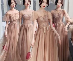 girl, wedding, and champange dress image
