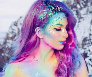 mermaids, hair color, and customes image