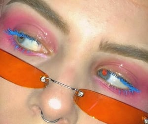 colorful makeup, glossier, and aesthetic image