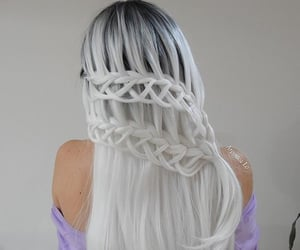 braids, colored hair, and hair image