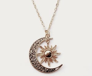 gold, moon, and necklace image