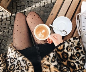 coffee, beauty, and fashion image