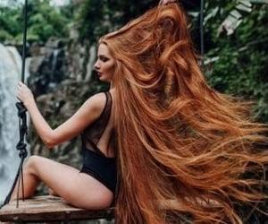 auburn hair and rapunzel hair image