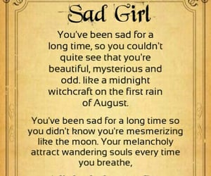 poem, quote, and sad girl image