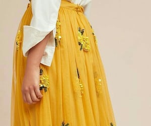 fashion, yellow, and skirt image