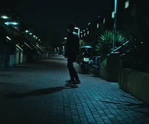 black, city lights, and dark image