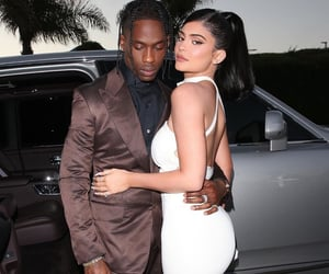 kylie jenner, travis scott, and fashion image