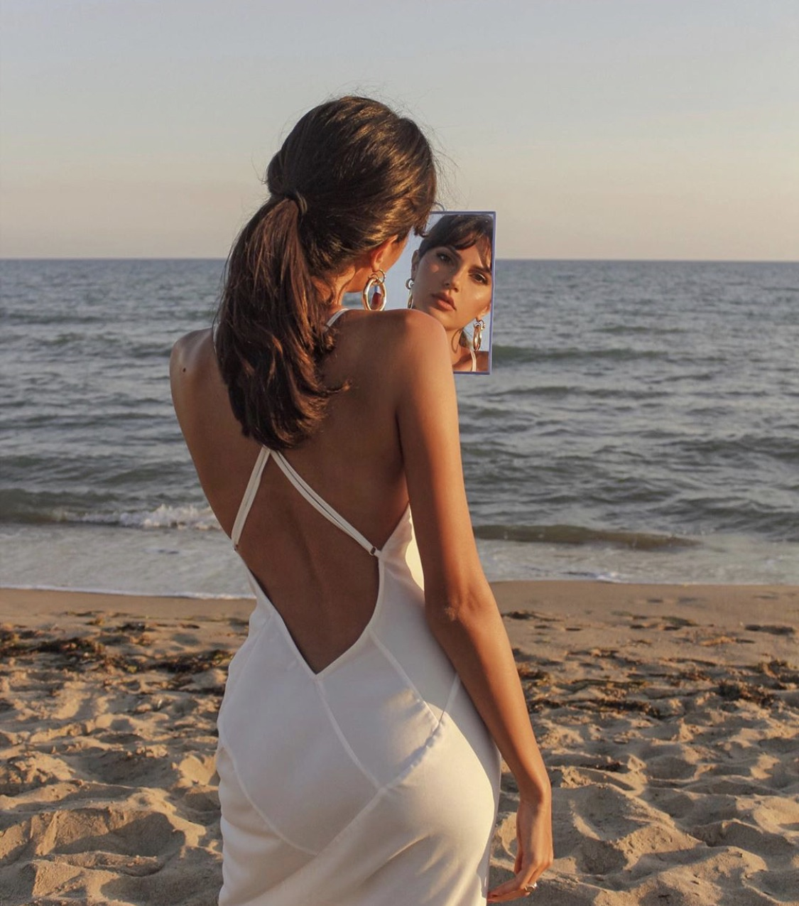 fashion, mirror, and beach image