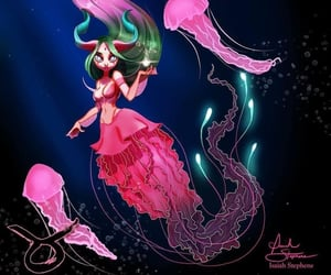 fantasy, horoscope, and mermaid image