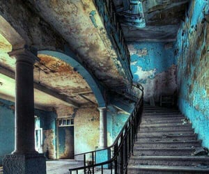 blue, old, and abandoned image