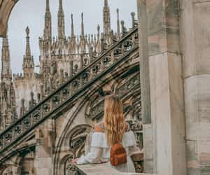 blonde, milan, and cathedral image