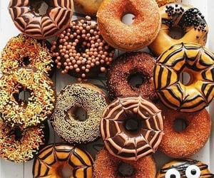 donuts, autumn, and food image