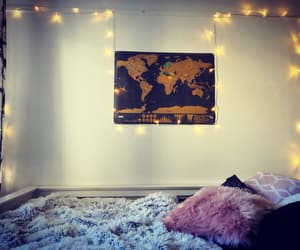 decorating, lights, and map image