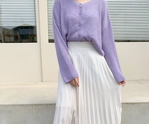 aesthetic, fashion, and lavender image