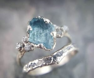 blue, engagement, and ring image