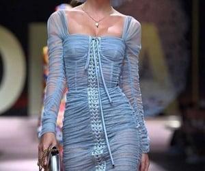 fashion, model, and blue image