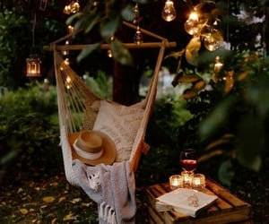 autumn, light, and swing image