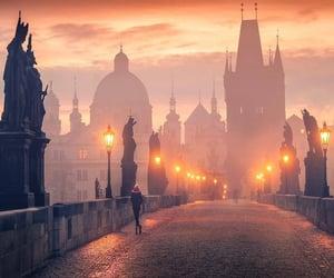 beautiful, city, and fog image