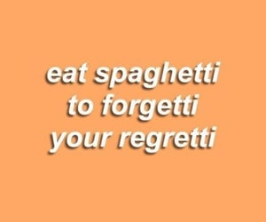 quotes, spaghetti, and orange image