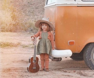 child, girl, and guitar image