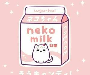 kawaii, neko, and pink image