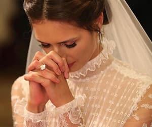 bride, dress, and god image
