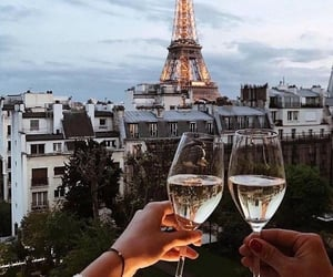 paris, drink, and champagne image