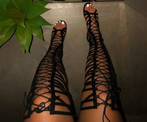 black, gorgeous, and heels image