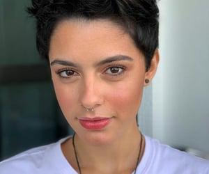 atriz, brunette, and piercing image