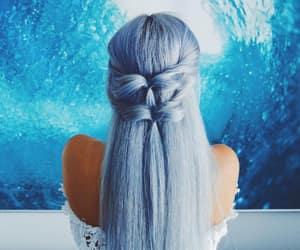 mermaid hair and blue hair image