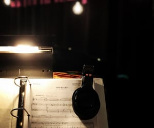 broadway, headphones, and music image